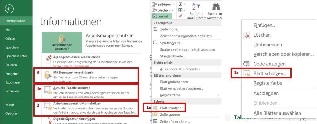 Schutzorgane für Ihre Excel-Dateien.
