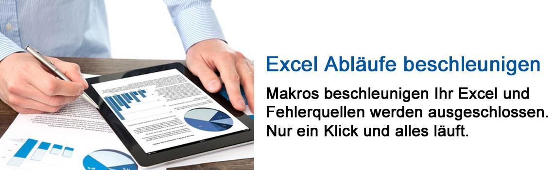 Excel Abläufe beschleunigen